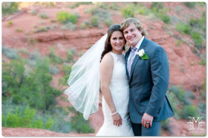 sedona, wedding, bride and groom