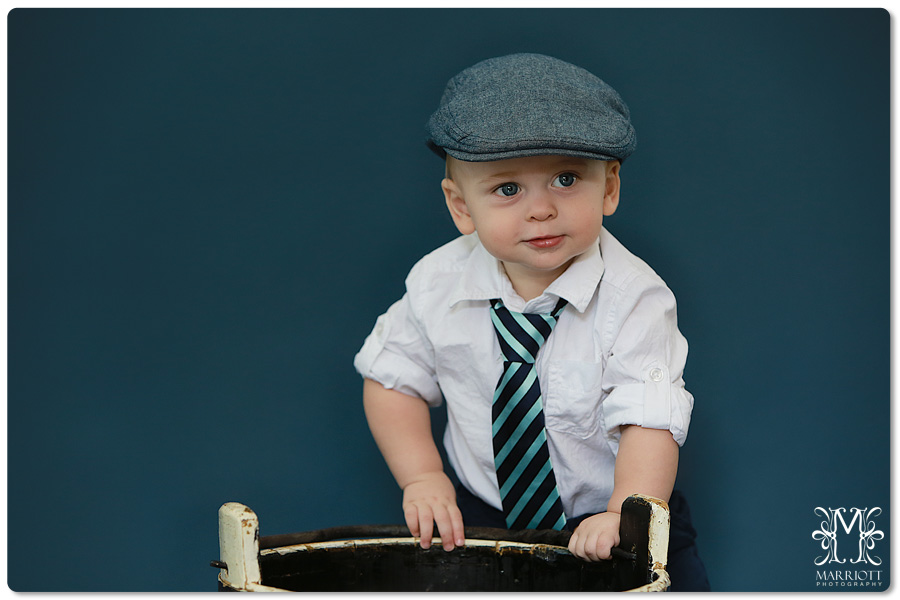 477e8b525 1 year old, boy, hat, tie, | Marriott Photography Blog