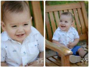 Boy, 1 year, outdoors, happy, smile