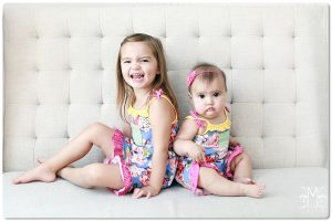 3 year old 6 month old studio portraits sisters by marriottphoto.com