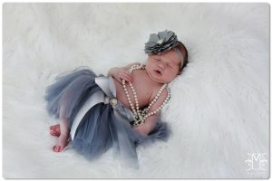 newborn, little girl, studio,