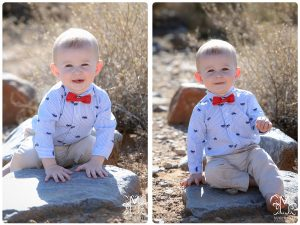 1 year, boy, outdoors, desert, bow tie