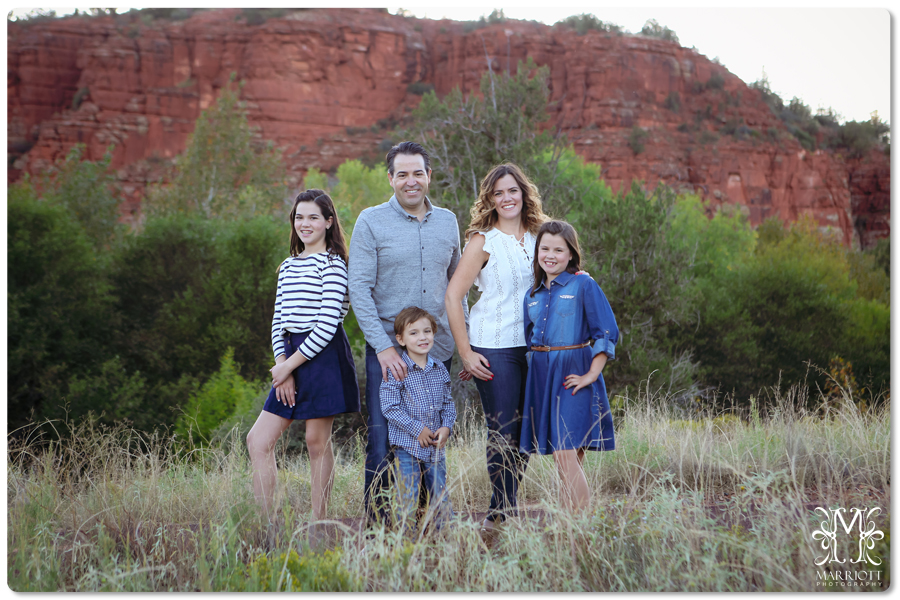 fall family sedona red rocks, river, bridge by marriottphoto.com